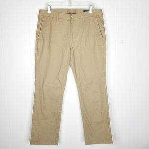 Bonobos Mens Straight Leg Fit Tan Pants Flat Front